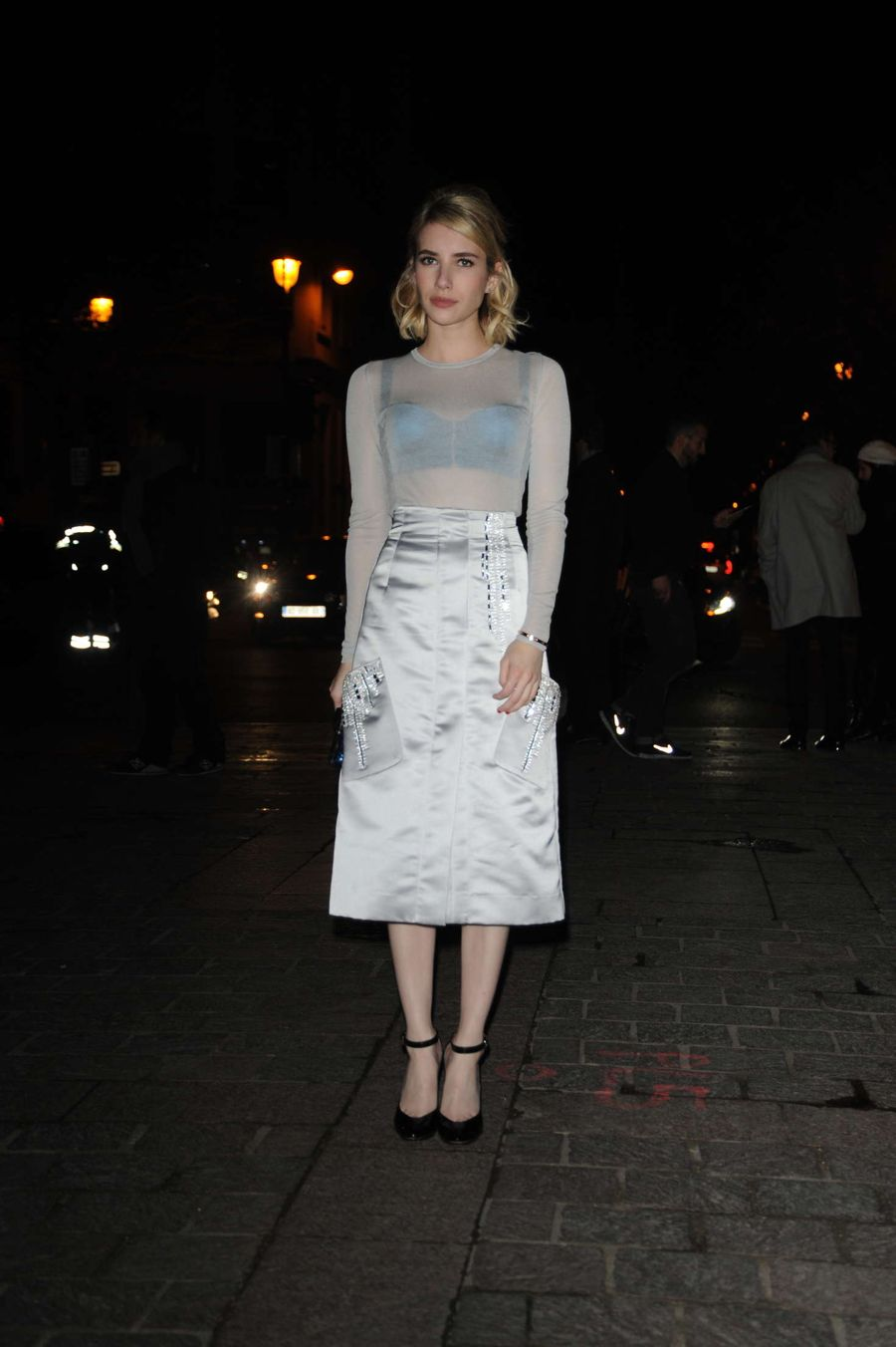 Emma Roberts - Arives at H&M Fashion Show 2016 in Paris