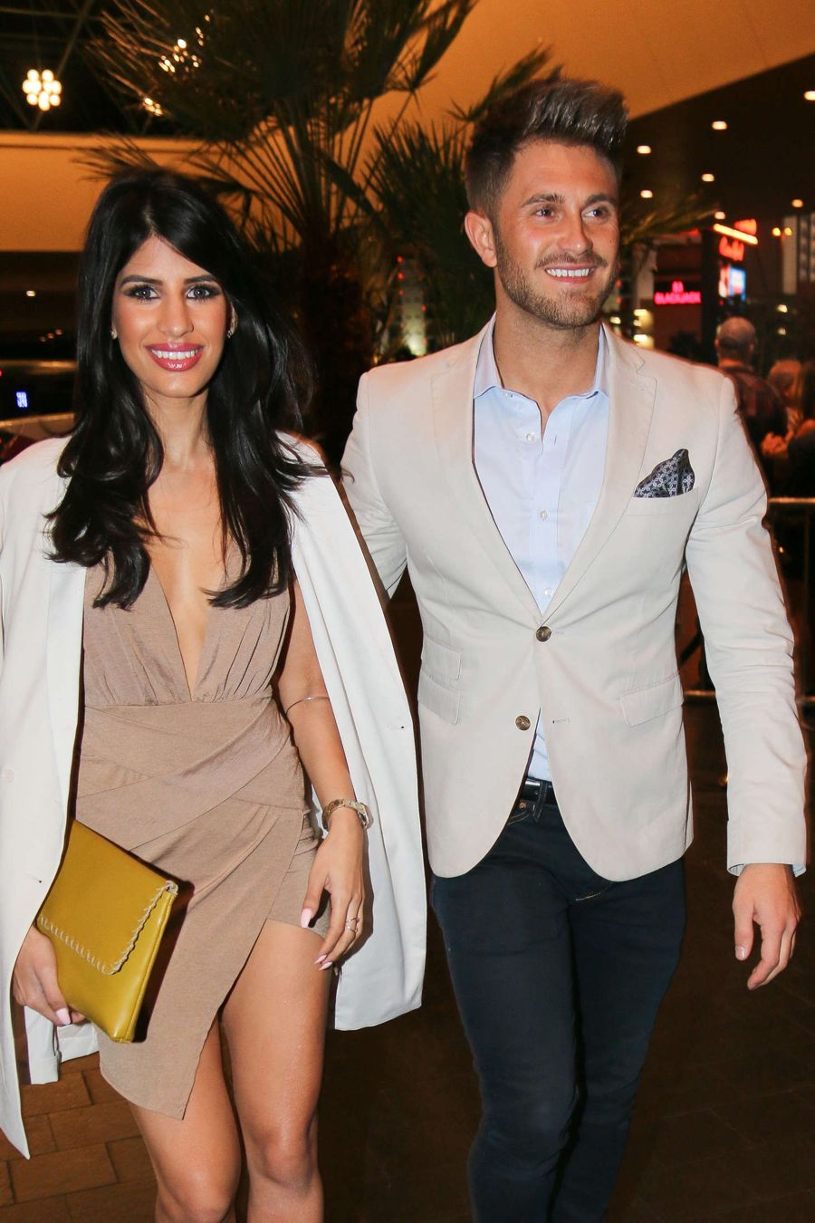 Jasmin Walia and her boyfriend Ross Worswick in Vegas