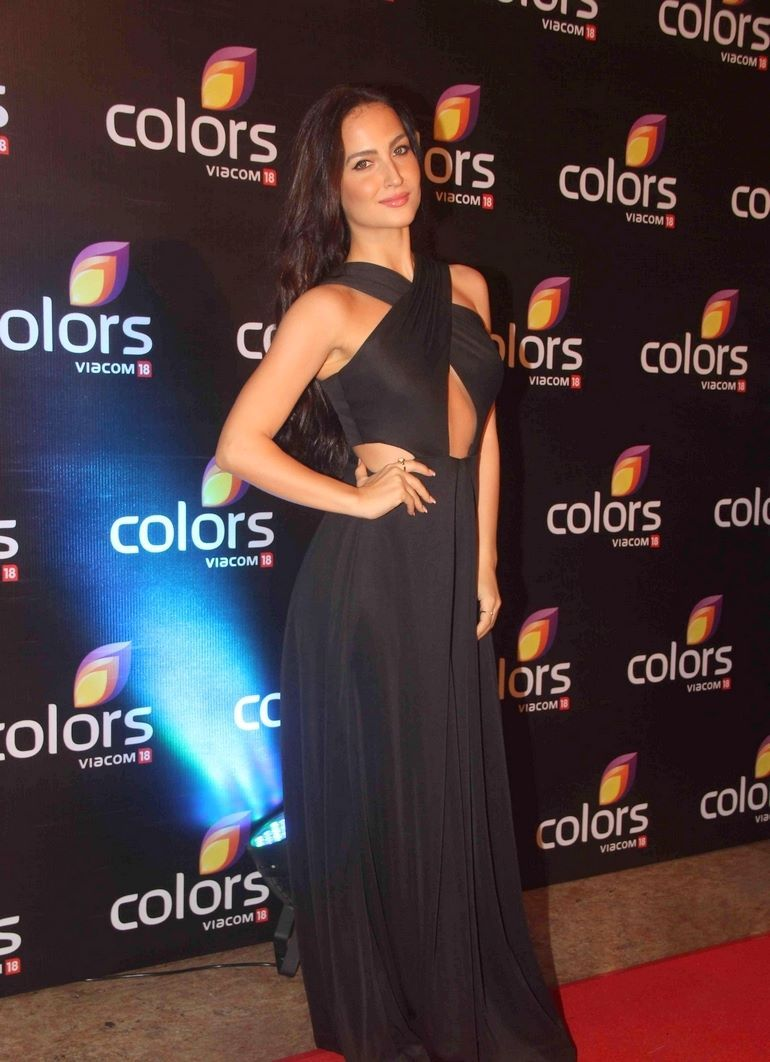 Elli Avram Snapped at Colors Annual Party at Hyatt