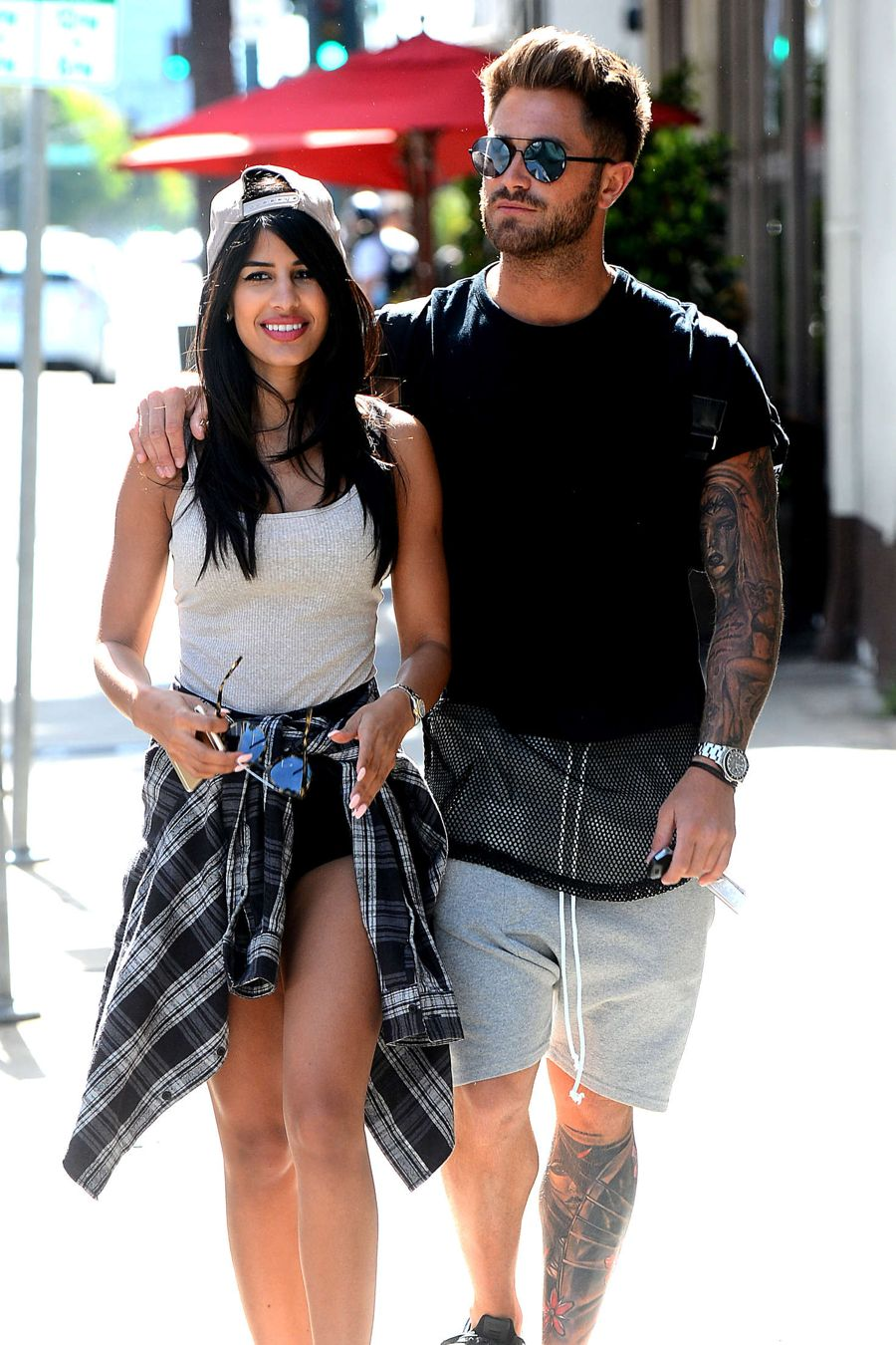 Jasmin Walia Out for lunch in Beverly Hills