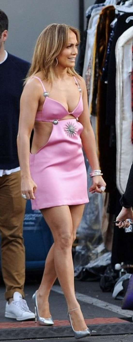 Jennifer Lopez in Mini Dress Arrives at American Idol