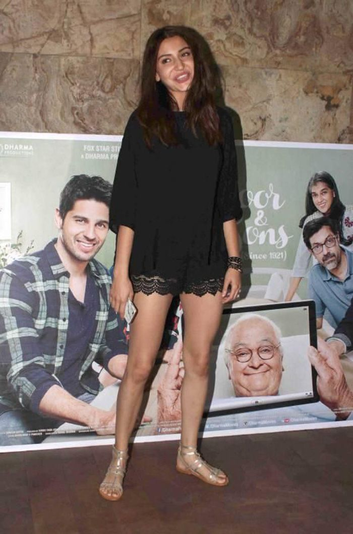 Anushka Sharma at Special Screening of Kapoor & Sons