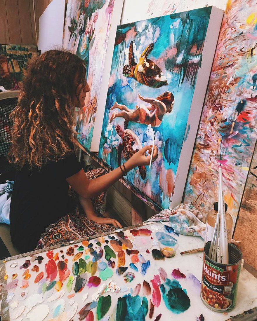 16-Year-Old Turns Wildest Dreams Into Paintings
