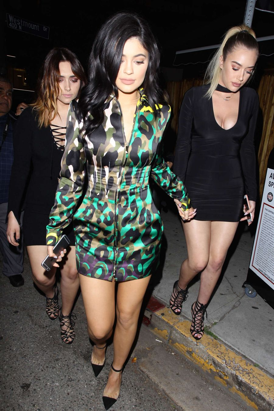 Kylie Jenner - Leaving The Nice Guy in Green Dress