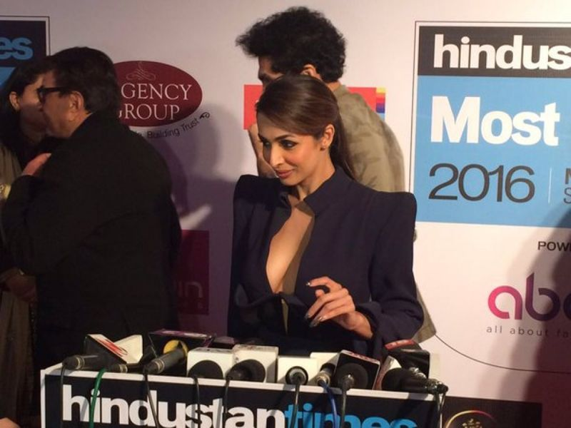 Malaika Arora Khan in Black Dress at HT Most Stylish Awards