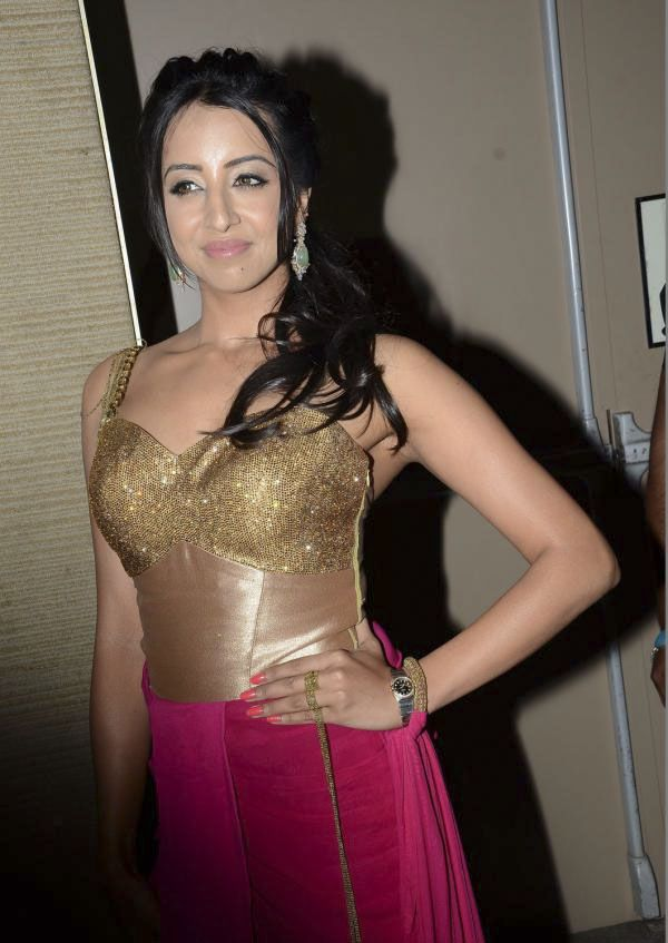 Sanjana at Sardar Gabbar Singh Audio Launch