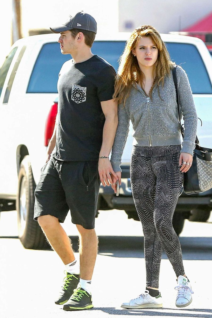 Bella Thorne in a Crop Top Heads to Gym in LA
