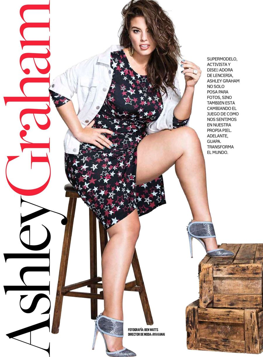 Ashley Graham's Plus Size featured in Cosmopolitan