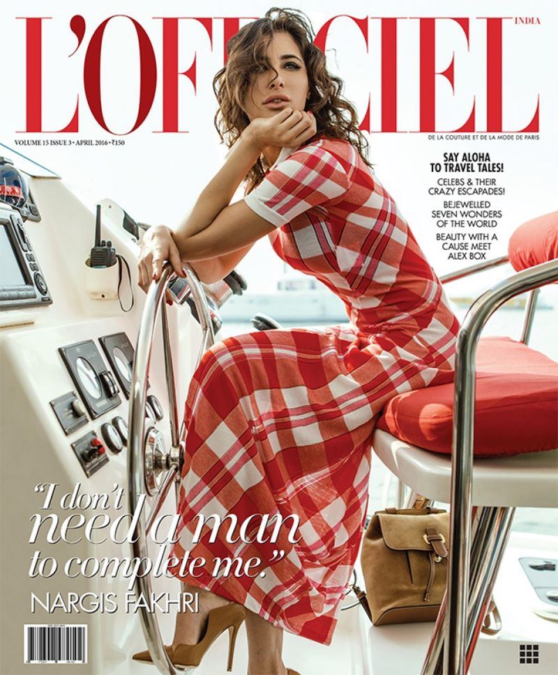 Nargis Fakhri during L'Officiel magazine shoot