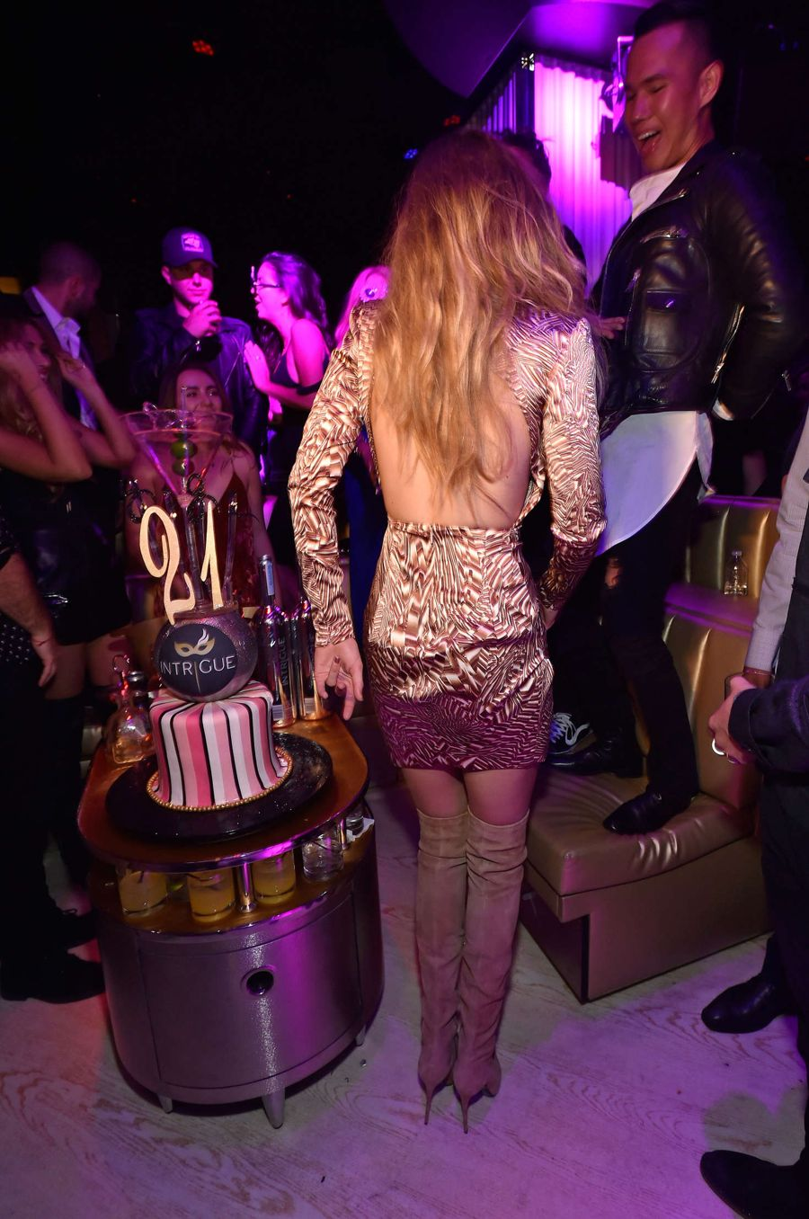 Gigi Hadid - Celebration of her 21st birthday in Vegas