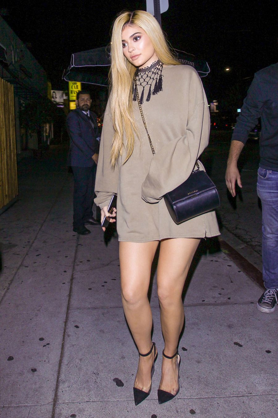 Kylie Jenner Shows her Legs at Nice Guy in Hollywood