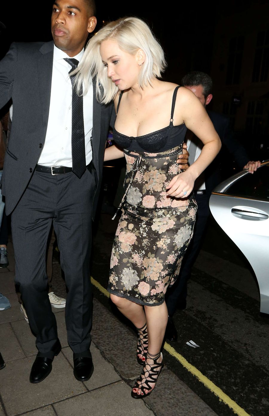 Jennifer Lawrence in Tight Dress out in London