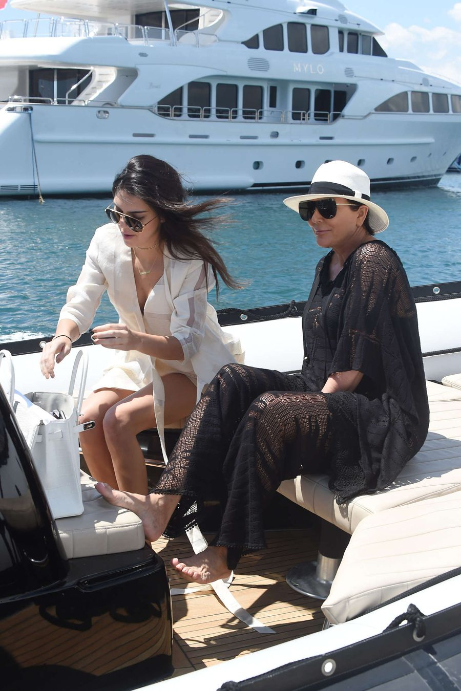 Kendall Jenner on a yacht in Cannes