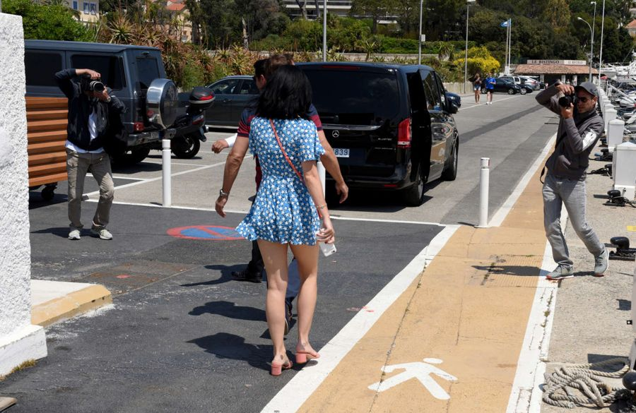 Katy Perry in Short Jumpsuit Out in Cannes