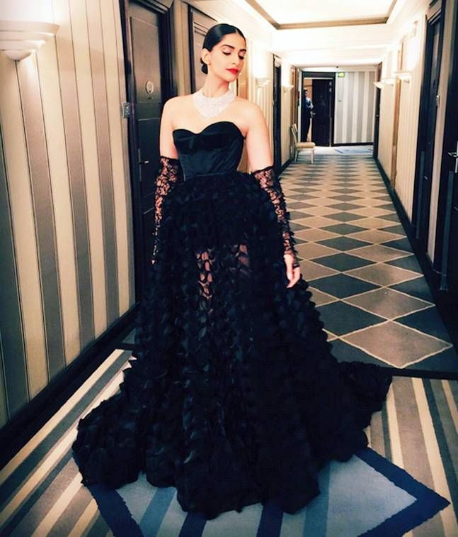 Sonam Kapoor Wears Ralph & Russo For Chopard Party