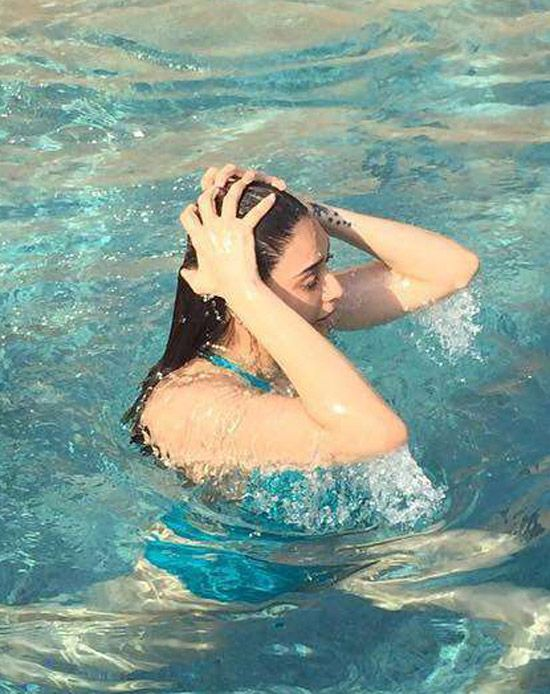 Karishma Tanna Cools Off In A Swimsuit