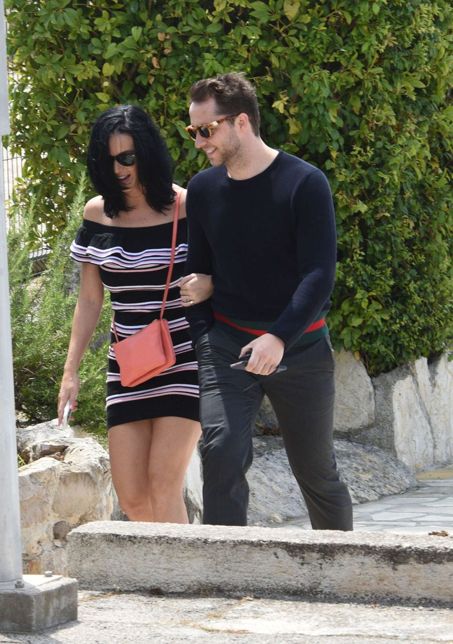 Katy Perry in Mini Dress out in Cannes