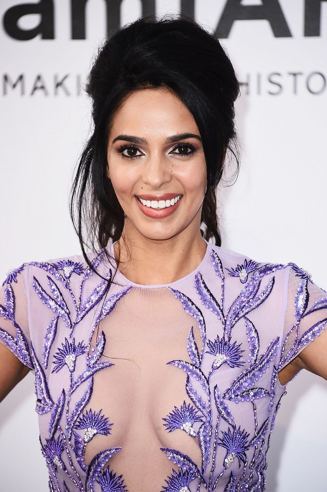 Mallika Sherawat goes bold for amfAR gala