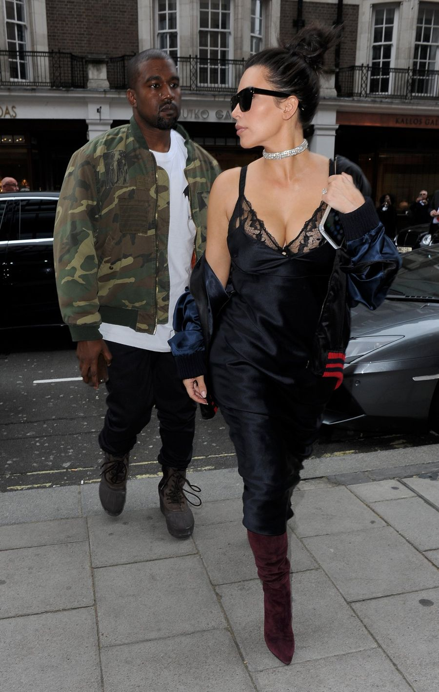 Kim Kardashian on Lunch Date with Kanye West in London
