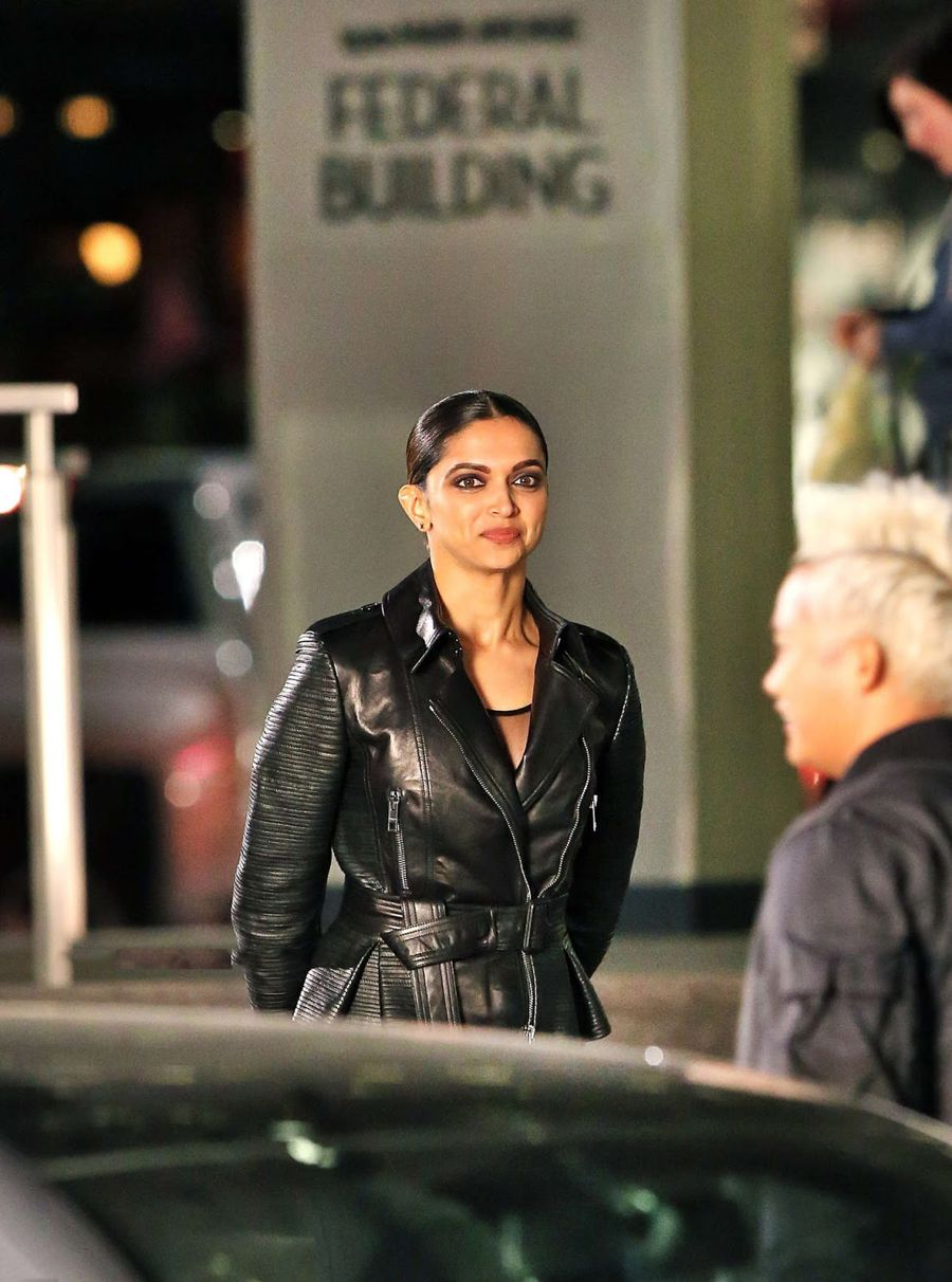 Deepika Padukone Stunning On Sets Of Her Hollywood Movie
