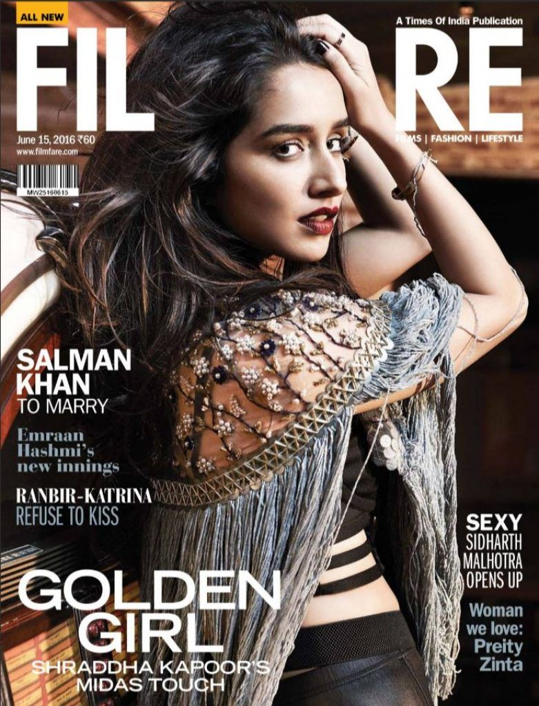 Shraddha Kapoor on Filmfare Magazine June 2016