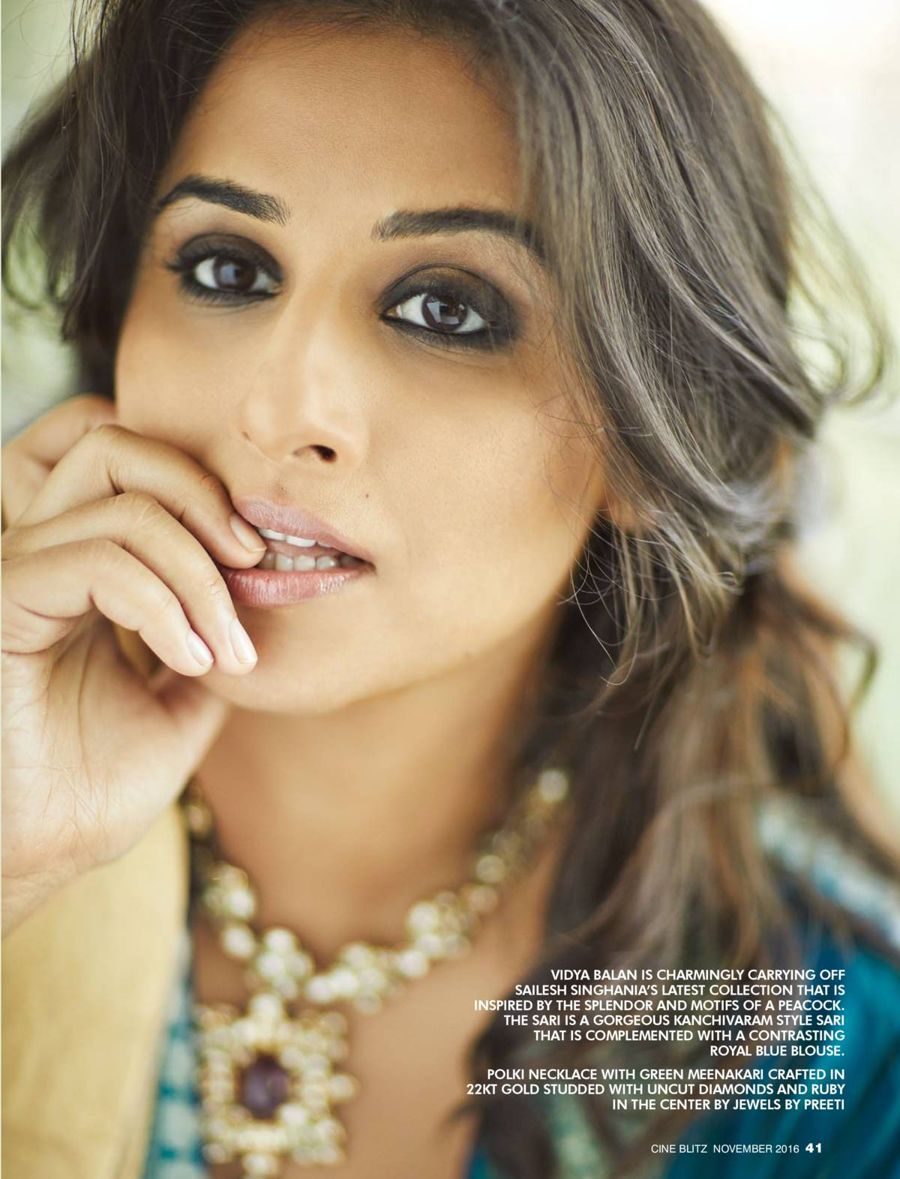 Vidya Balan Features on CineBlitz Magazine (Nov 2016)