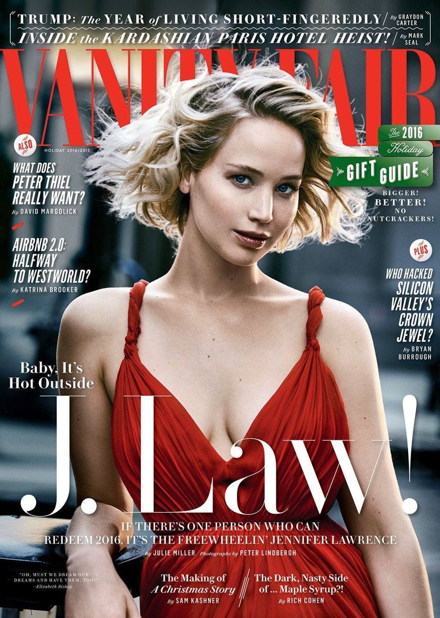 Jennifer Lawrence - Vanity Fair Magazine Shoot (Nov 2016)
