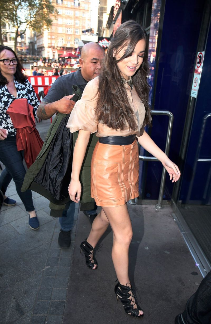 Hailee Steinfeld at Global Radio Studios in London