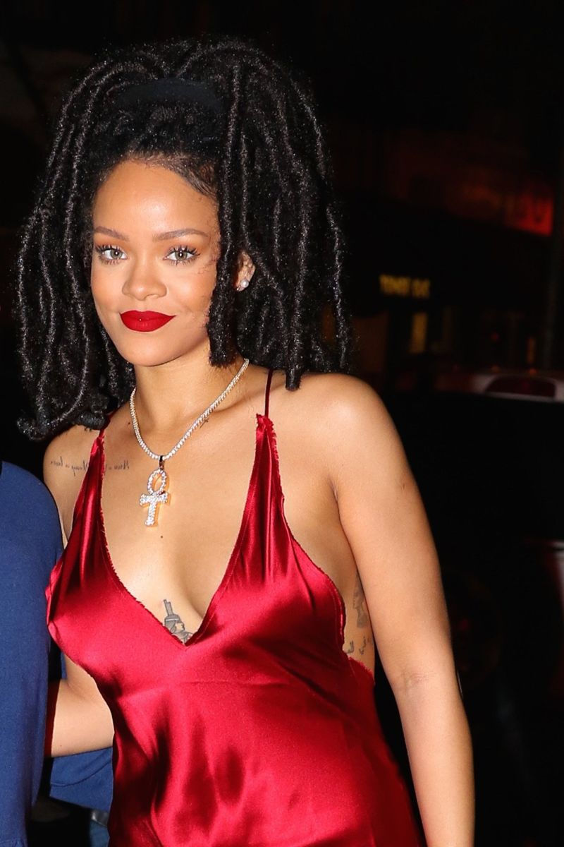 Rihanna at Carbone Restaurant in New York
