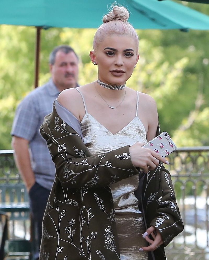 Kylie Jenner Steps Out in Body-Hugging Metallic Number