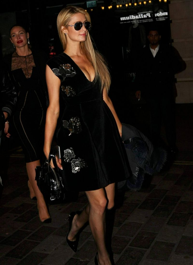 Paris Hilton parties in London Movida nightclub