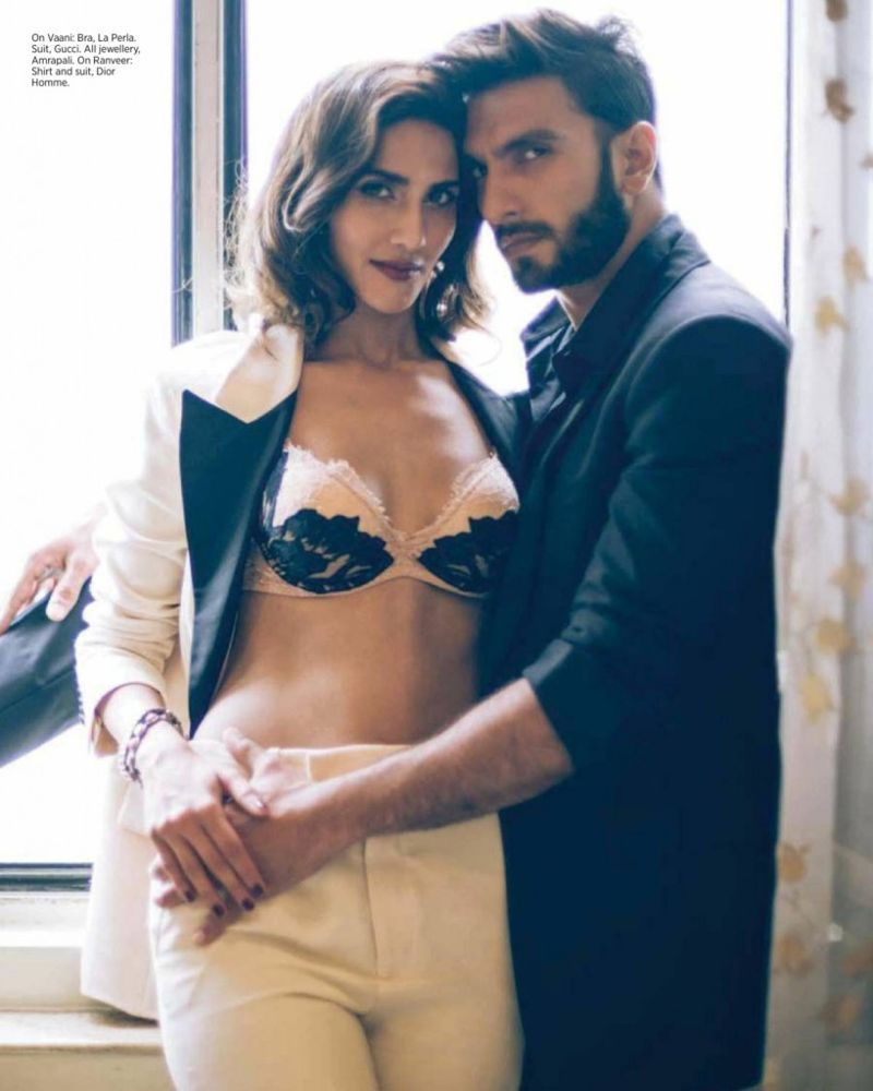 Ranveer Singh and Vaani Kapoor on Harper's Bazaar Bride Mag