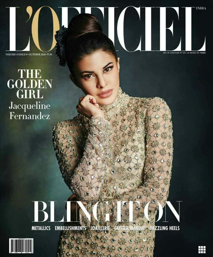 Jacqueline Fernandez on L'Officiel Magazine October 2016