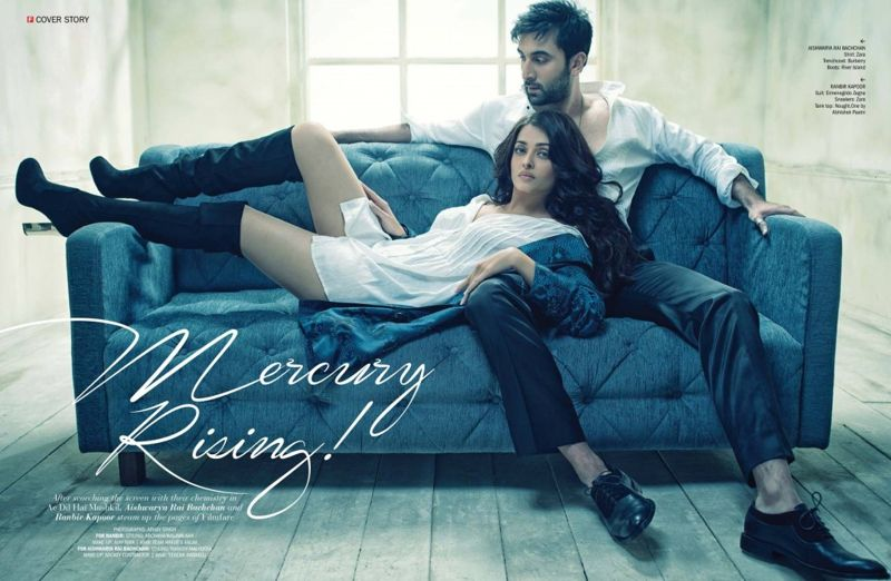 Aishwarya and Ranbir - FILMFARE Magazine October 2016