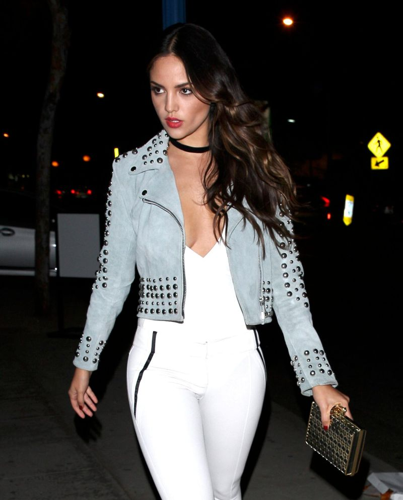 Eiza Gonzalez in White Dress in West Hollywood