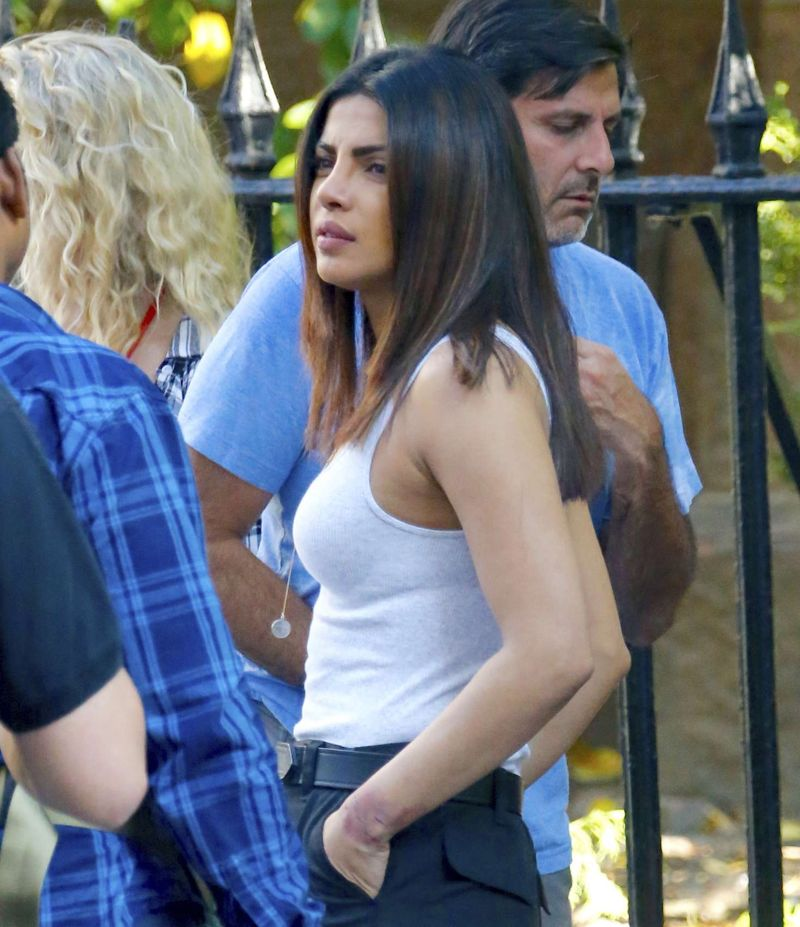 Priyanka Chopra - Filming 'Quantico' in New York City