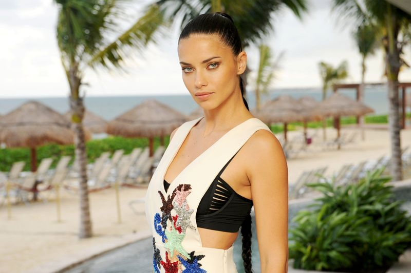 Adriana Lima at Riviera Cancun Resort And Spa in Mexico