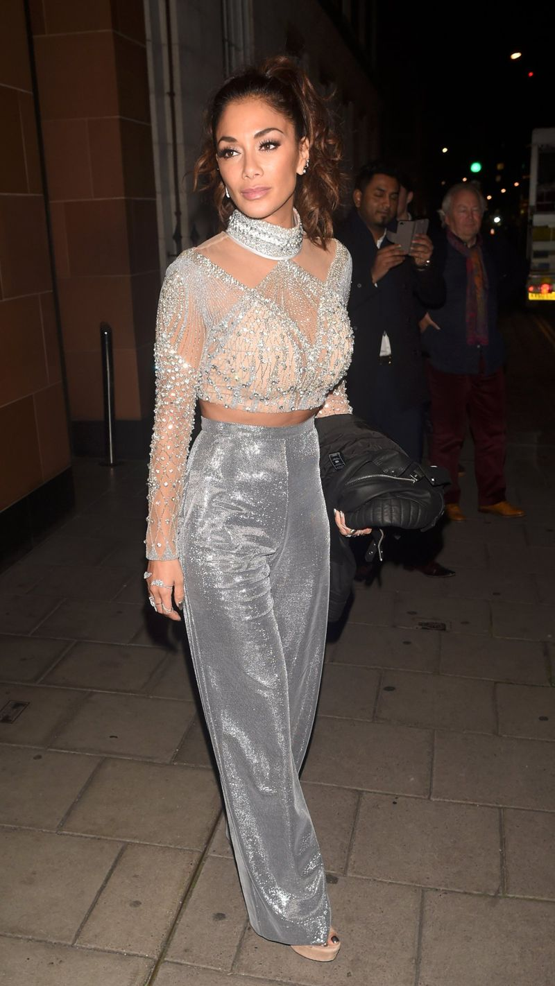 Nicole Scherzinger leaves The X Factor studios