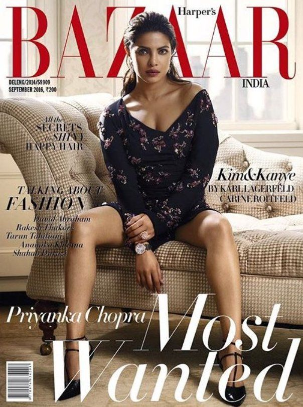 Priyanka Chopra on Harper's Bazaar Magazine Cover