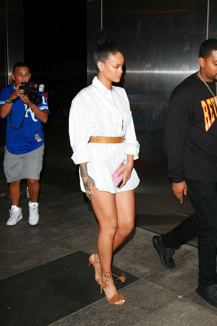 Rihanna - Seen Outside the Nobu Restaurant in Manhattan