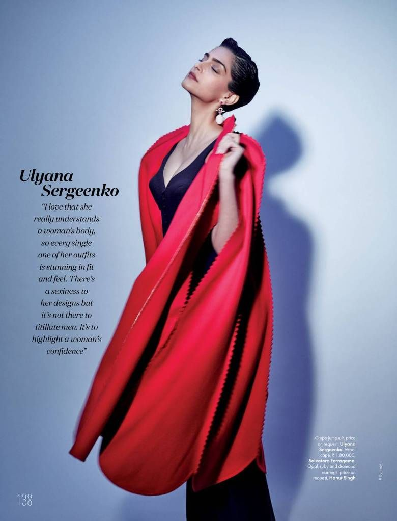 Sonam Kapoor Poses in Her Favourite Labels For ELLE Magazine