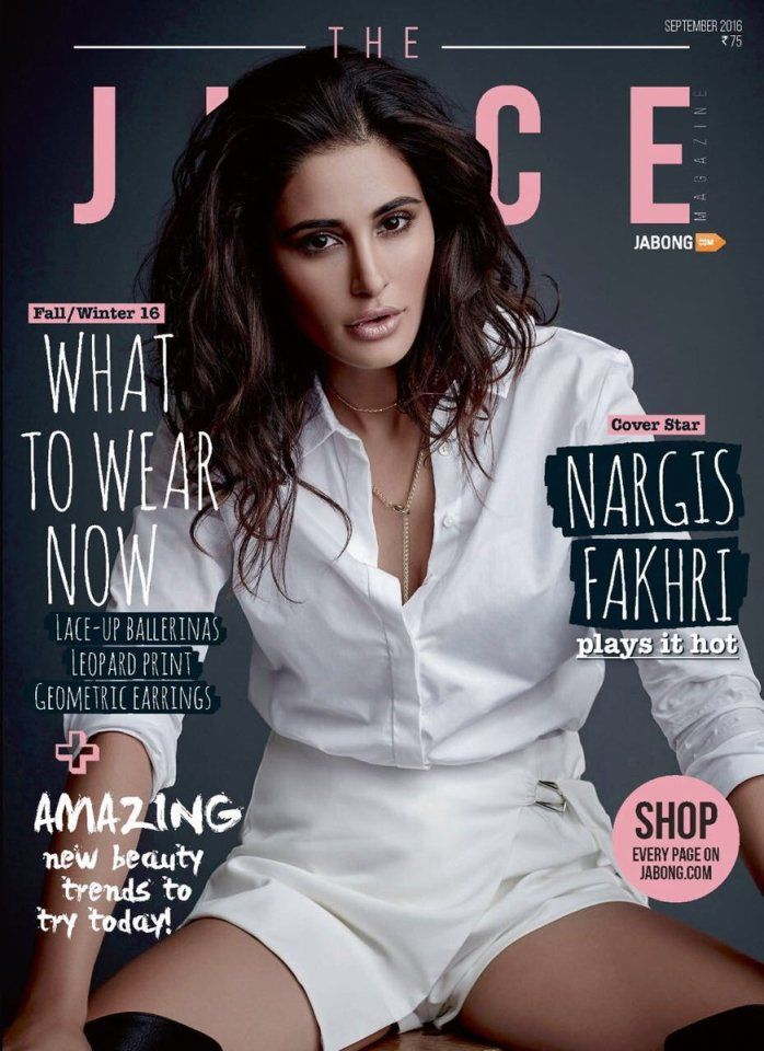 Nargis Fakhri on Juice magazine's September Issue