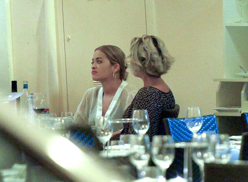 Rita Ora at Pierluigi Restaurant in Rome