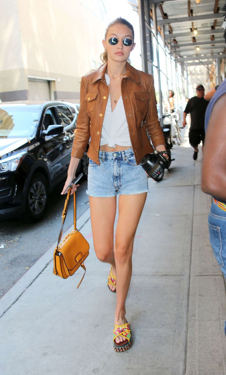 Gigi Hadid in Denims out in New York City