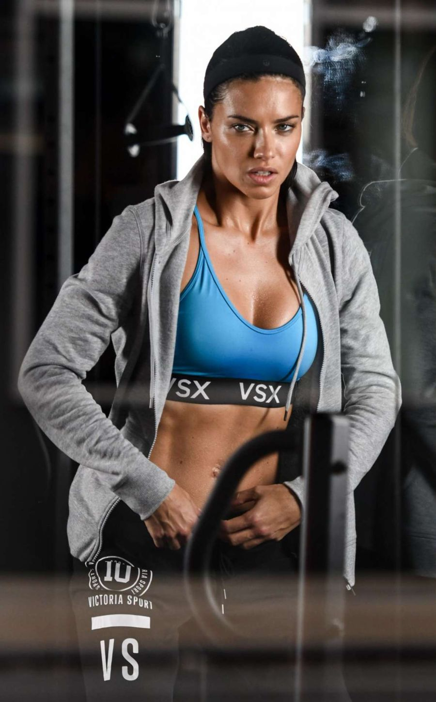 Adriana Lima - Gym Session Photoshoot in New York