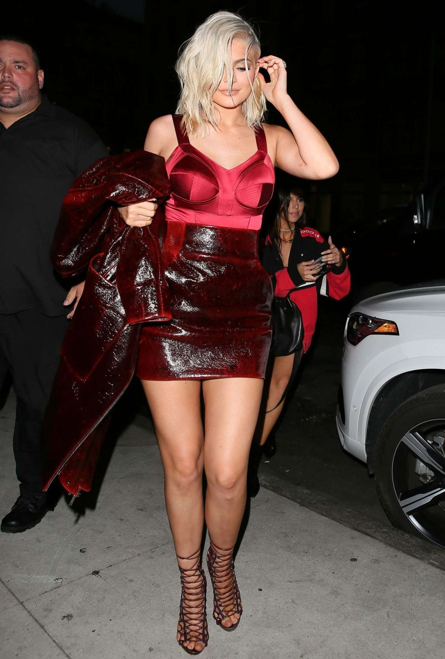 Kylie Jenner in Red out in New York