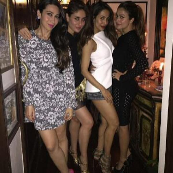Kareena, Karishna and Malaika at Saif's Party