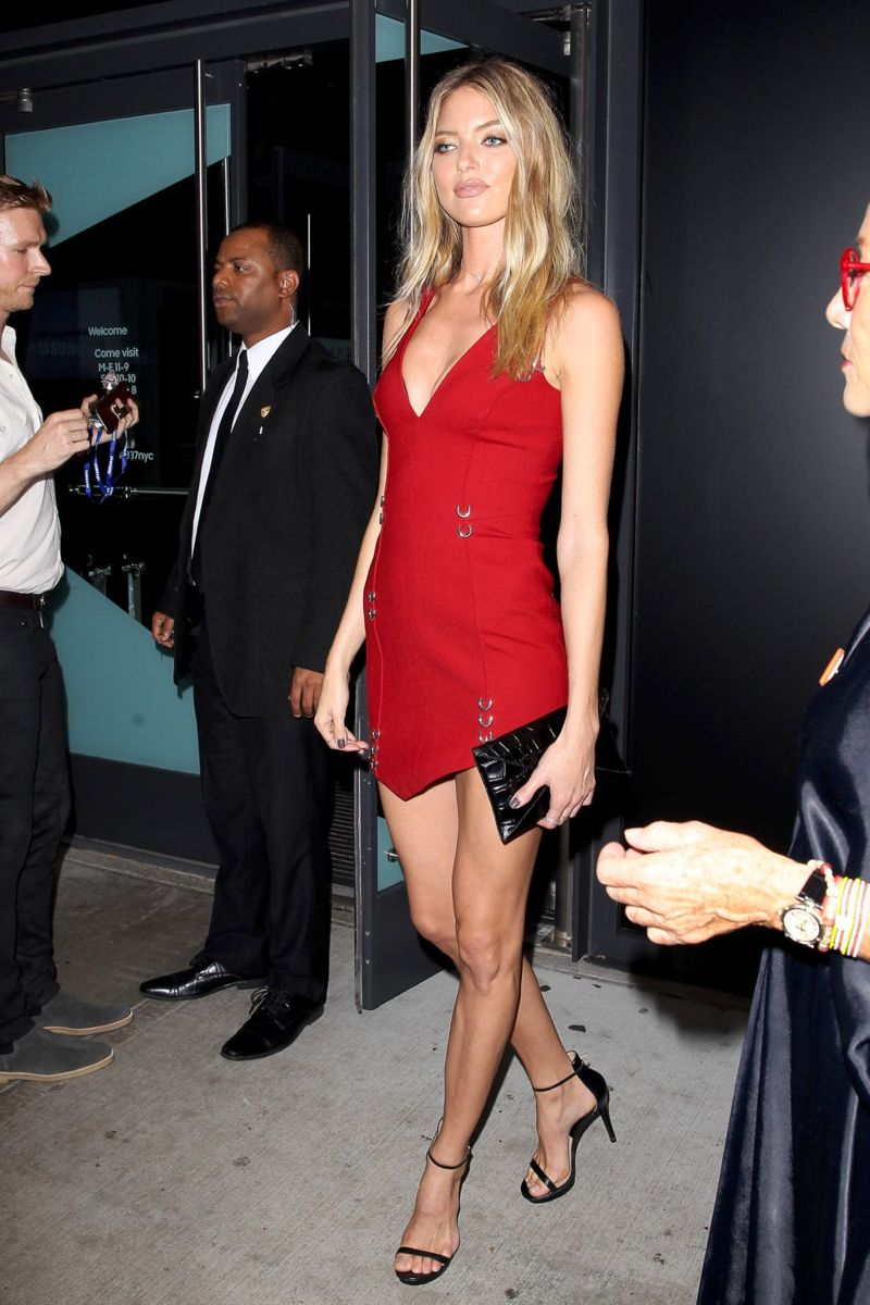 Martha Hunt Charlotte Tilbury x Samsung in New York
