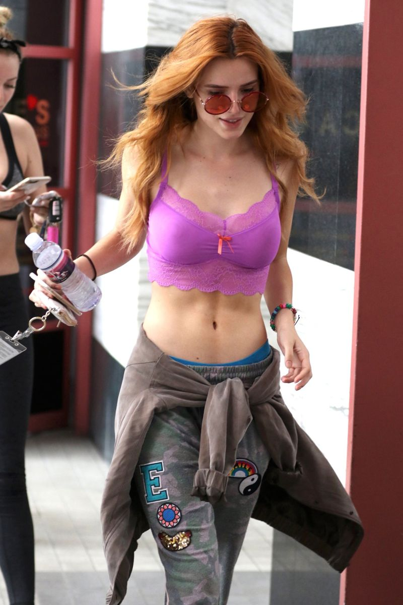 Bella Thorne left a pilates class in West Hollywood