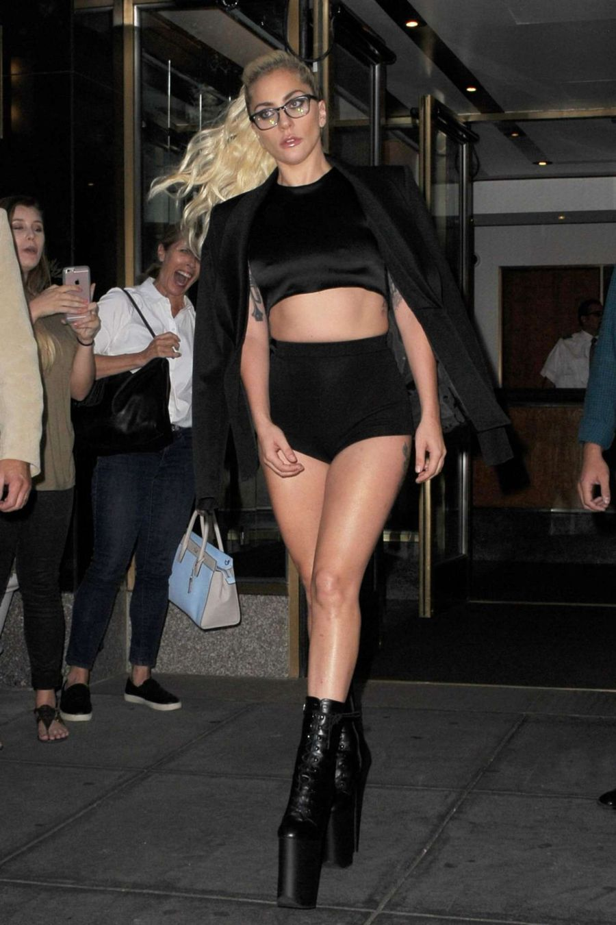 Lady Gaga Looks Fierce as she Attends Fashion Show